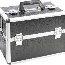 VALISE VANITEX-5 BLACK CROCO 36 X23 X28 CM