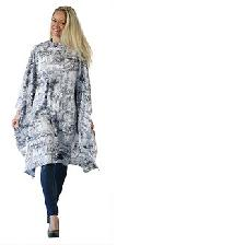 MAXI-CAPE-PEIGNOIR GM GRIS DESSIN CITY