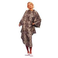 PEIGNOIR CAPE GRAND MODELE LEOPARD POLYESTER