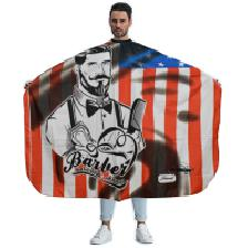 MAXI CAPE USA-FLAG-BARBER-ROUGE-BLEU