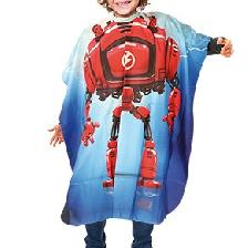 PEIGNOIR CAPE ENFANT DESSIN ROBOT-KID