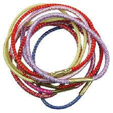 X-ELASTIQUE GAINE MULTICOLOR PONYTAIL X10 (45 MM)