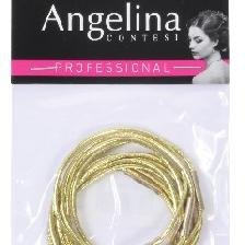ELASTIQUE GAINE OR PONYTAILS X10 (45MM) ANGELINa C